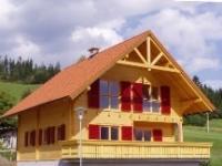Blockhaus auch  mit  Bauherrenmithilfe